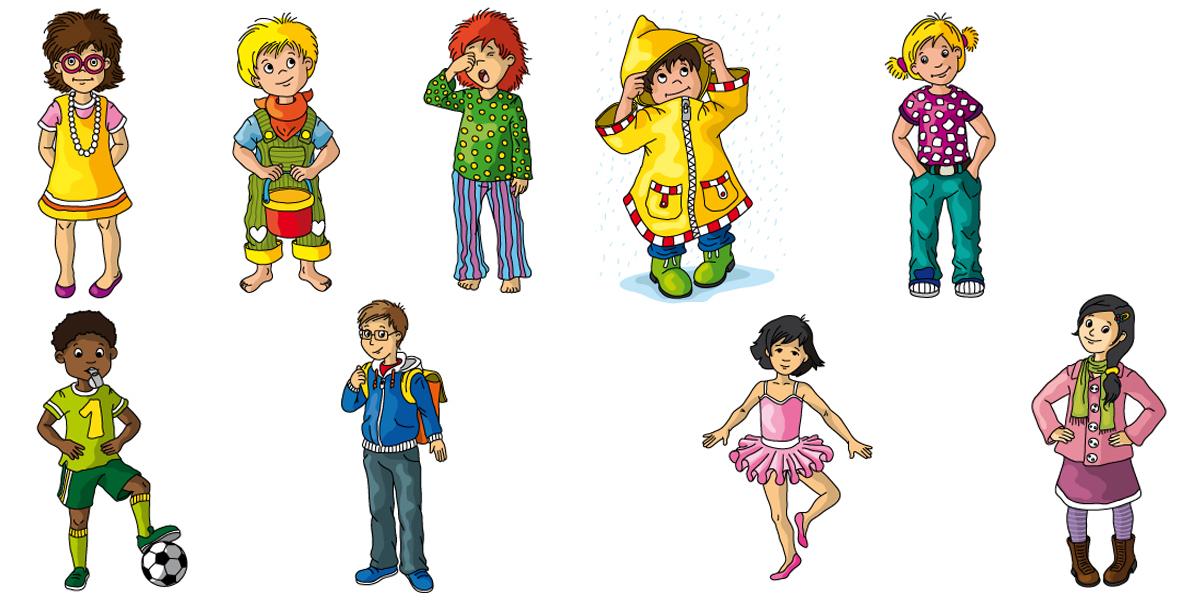 verschiedene Kinderfiguren