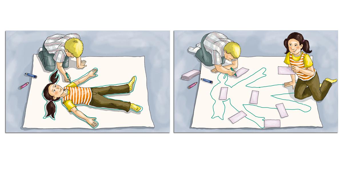 Körperteile zuordnen